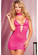 Midnight Affair 3pc Chemise -pink- Os