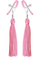 Frisky Nipple Clamps With Tassels Pink