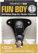 Perfect Fit Fun Boy Buck Angel Soft Hollow Strap On Black...