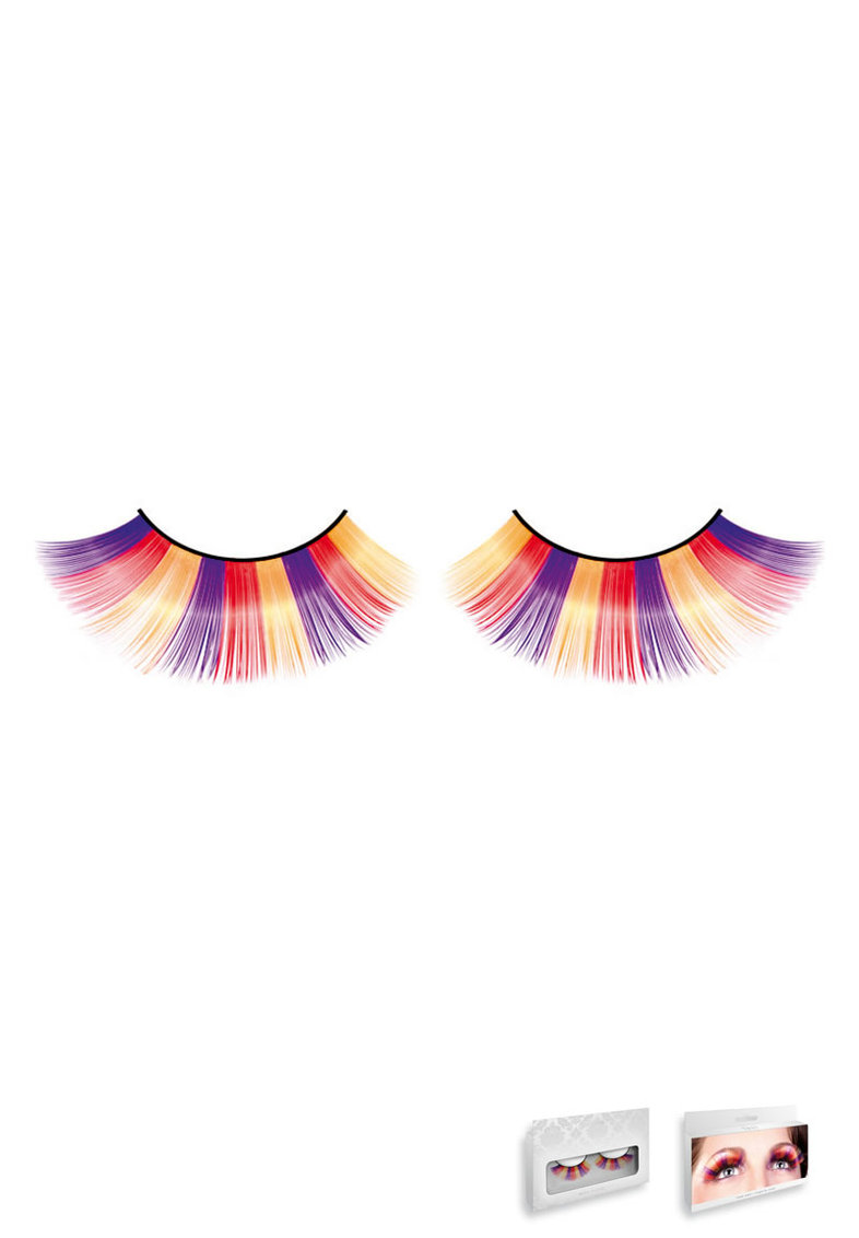 Purple-orange-yellow Glitter Eyelashes
